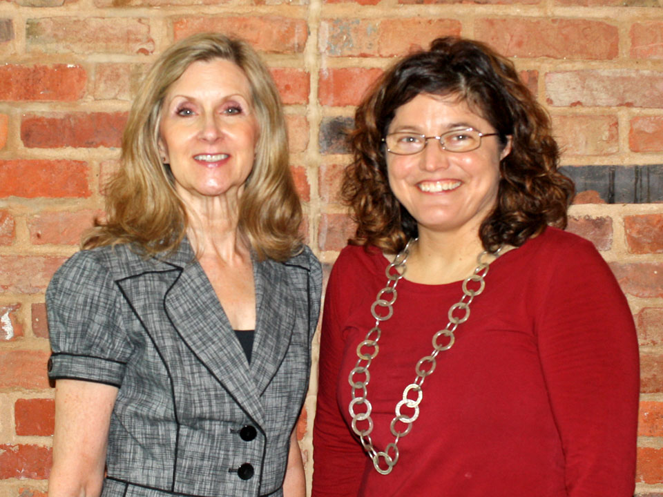 "Two of the ""Twenty Outstanding Nurses of 2018"" – Drs. Cathy Rozmus (left) and Stacy Drake. (Photo by D. R. Bates)"