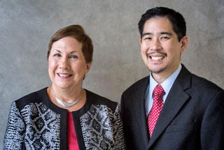 Dr. Susan Ruppert & Dr. Ryan Quock, School of Dentistry, are UTHealth's 2018 winners of the UT Regents' system-wide award for teaching excellence. (Photo by Maricruz Kwon)