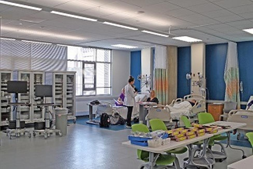 Expanded space provided by recent construction boosts the Sim Lab to about 27,000 total sq ft. (Photo by D R Bates)