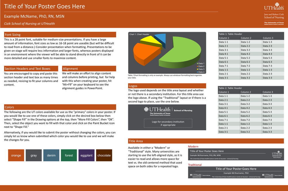 son poster templates media the university of texas With eposter template