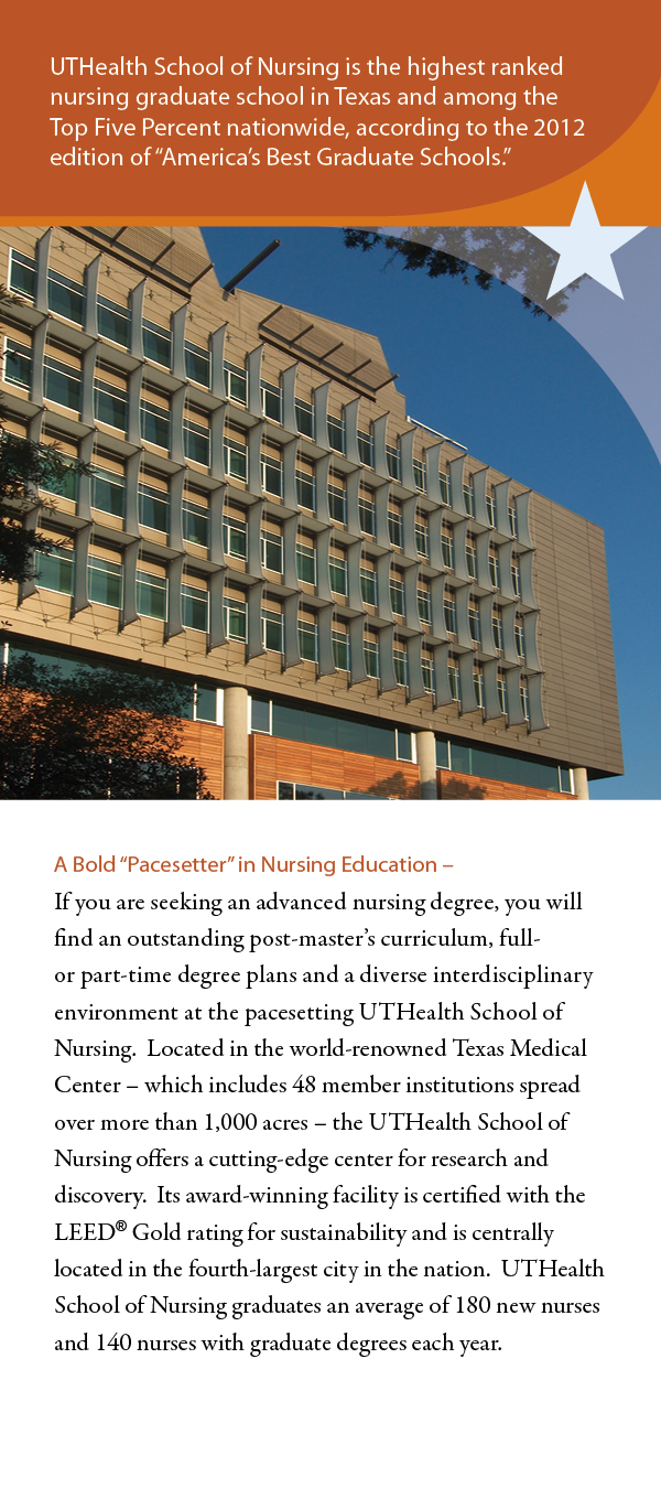 Texas State Nursing >> UTHealth Doctor of Philosophy in Nursing - Brochures ...